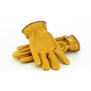 Kytone Gold Leather Gloves