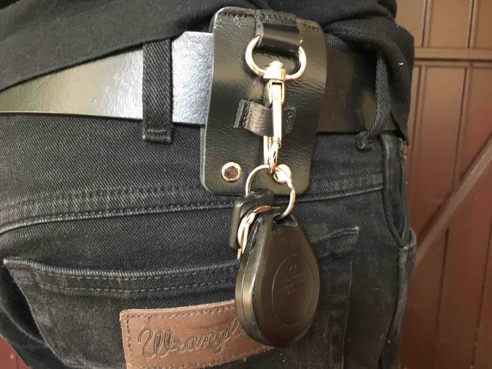 Handmade Leather Belt Key Holder And Key Fob: Save £5