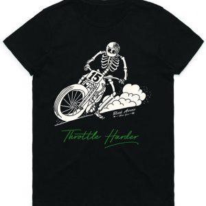 Black Arrow Ladies Throttle Harder T-Shirt