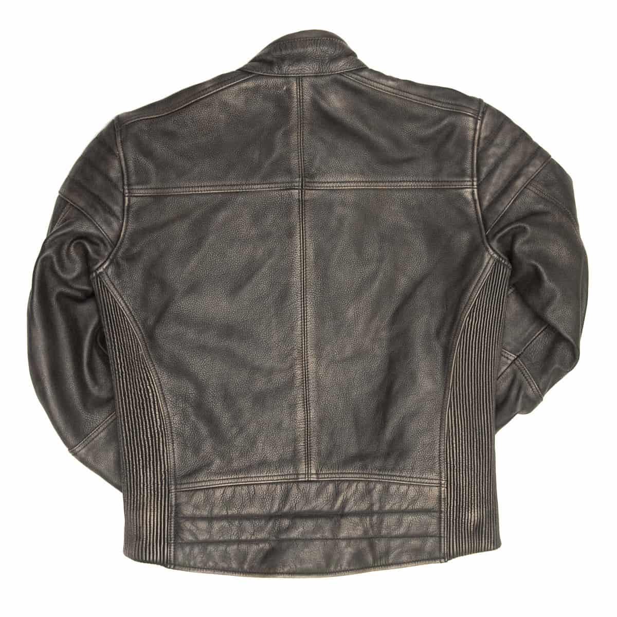 Age Of Glory: The Rocker Black Leather Motorcycle Jacket